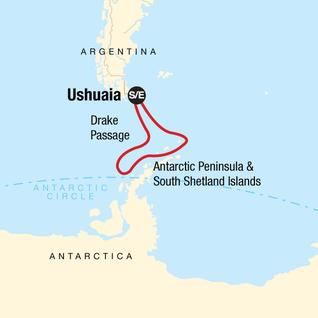 Map of Antarctica Classic