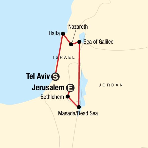 Tel Aviv Jerusalem Karte.Entdecke Israel