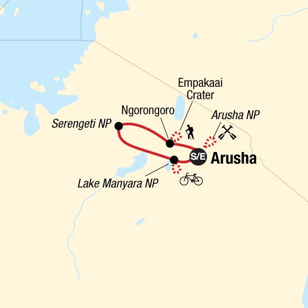 Tansania Aktivsafari