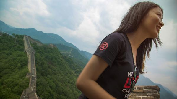 Watch time pass you by at the Great Wall of China.