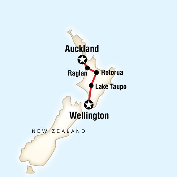 Yeni Zelanda Kuzey Adası Turu