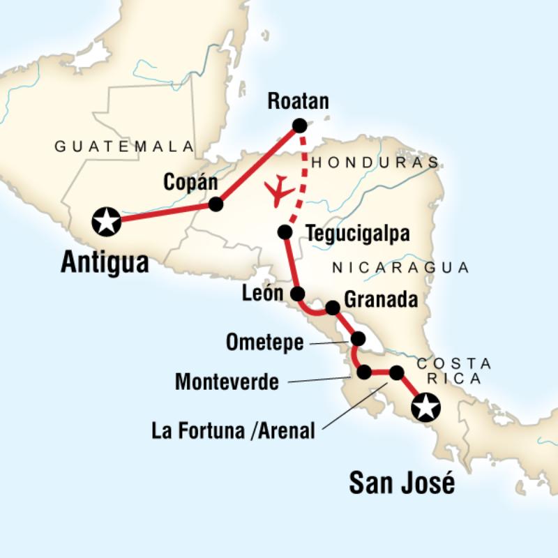 Antigua to San Jose
