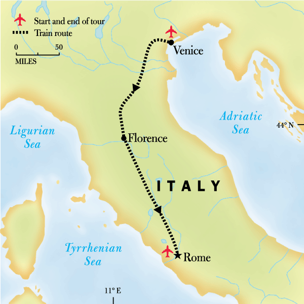 Map Of Italy Showing Venice.Italy Family Journey Venice To Rome In Italy Europe G