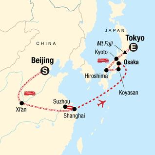 Map of Ancient Empires—Beijing to Tokyo