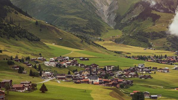 Watch the mists clear to reveal this tiny Swiss town, which sits in the shadow of the Matterhorn.