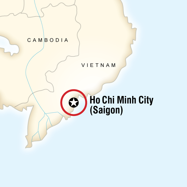 Map of the route for Ho Chi Minh City Day Tour: Mekong Delta (full day)