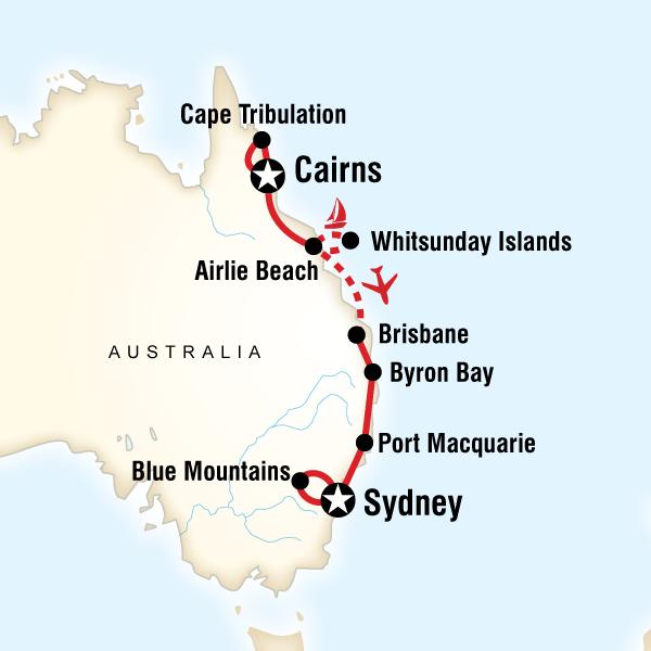 East Coast Australia Road Map.Places To Visit East Coast Australia Stellar