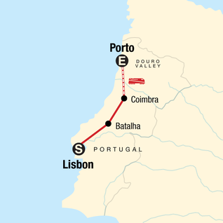 Map of Highlights of Portugal