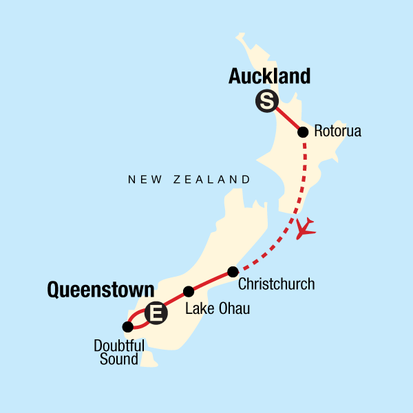 Rotorua New Zealand Map.New Zealand Express In New Zealand Australia Pacific G Adventures