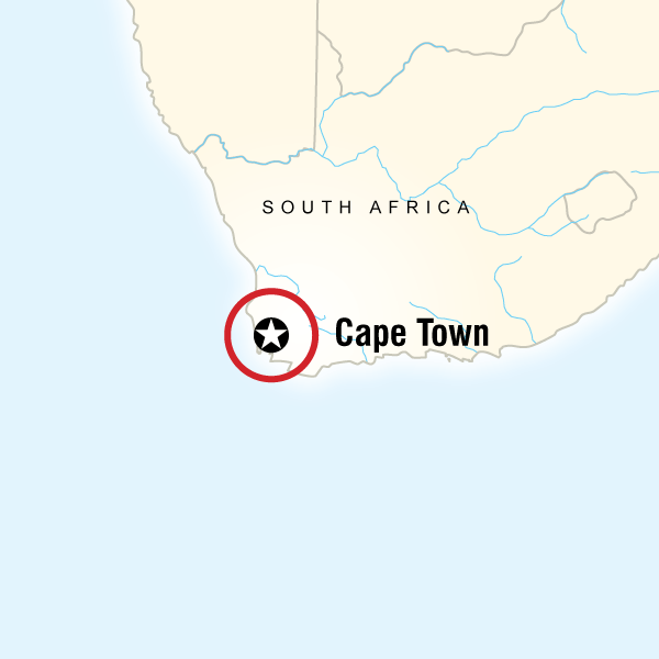 Map of the route for Cape Town Day Tour: South African Wine (full day)