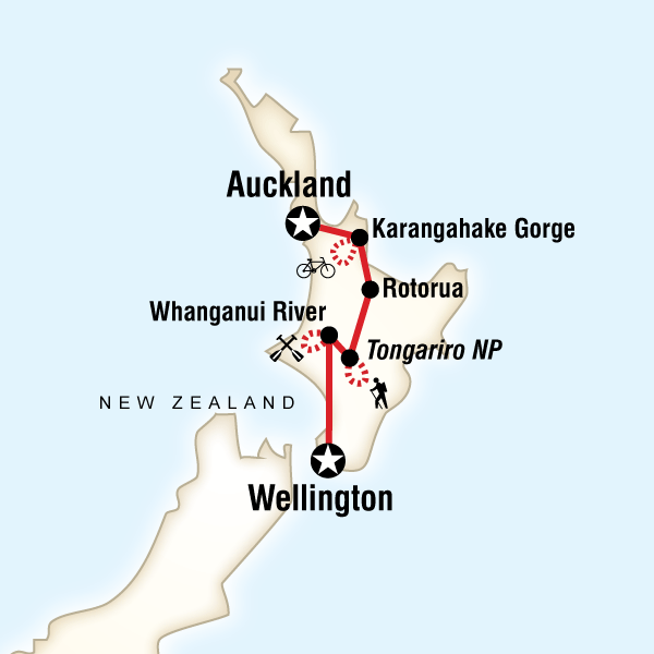 Map of the route for New Zealand – North Island Multisport