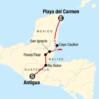 Map of Mayan Encounter