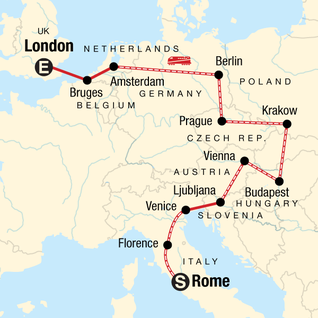 Map Of Germany And Hungary.Germany Tours Travel G Adventures
