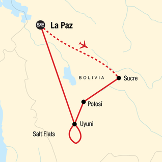 Map of Bolivia Discovery