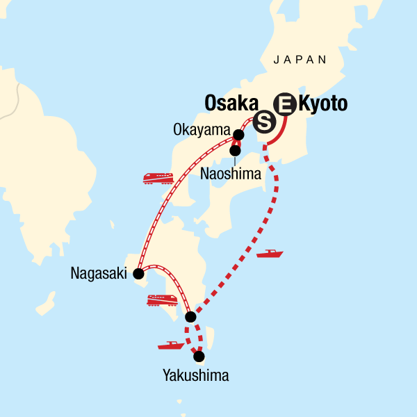 Japan Map Kyoto.Explore Southern Japan In Japan Asia G Adventures
