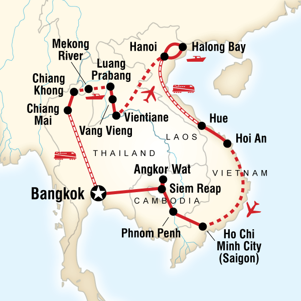 Indochina Encompassed In Thailand Asia G Adventures