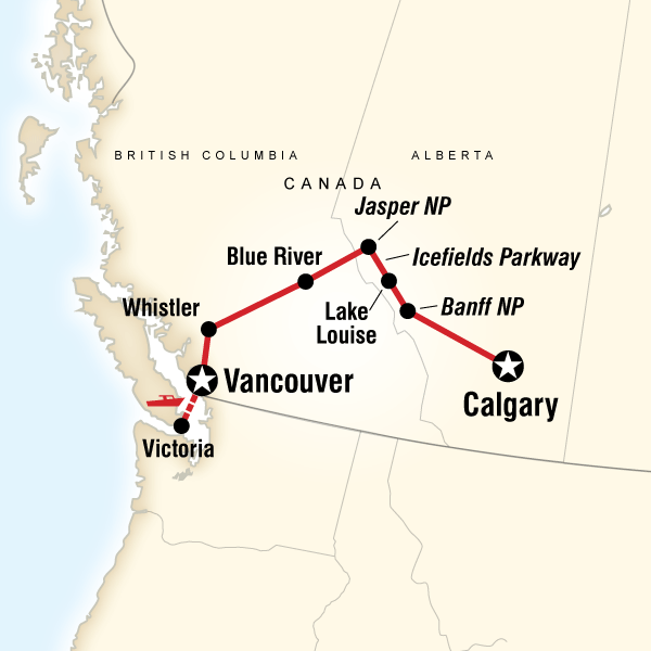 Discover The Canadian Rockies Eastbound In Canada North