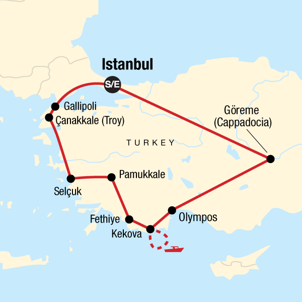 Karte Türkei Kappadokien.Türkei Mit Kleinem Budget