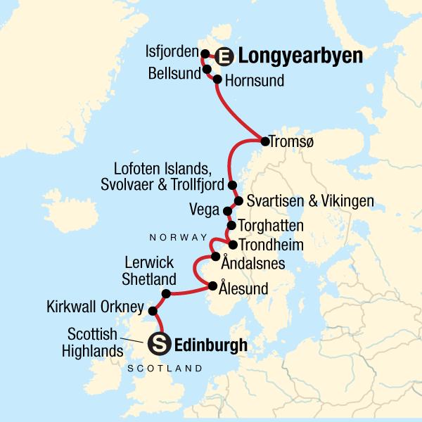Schottland Karte Highlands.Norwegische Arktik Und Schottische Highlands Total In Norwegen