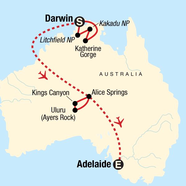 Darwin Map Of Australia.Australia North To South Darwin To Adelaide In Australia