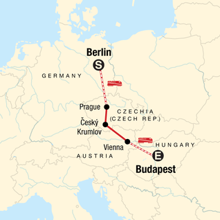 Map of Explore Central Europe