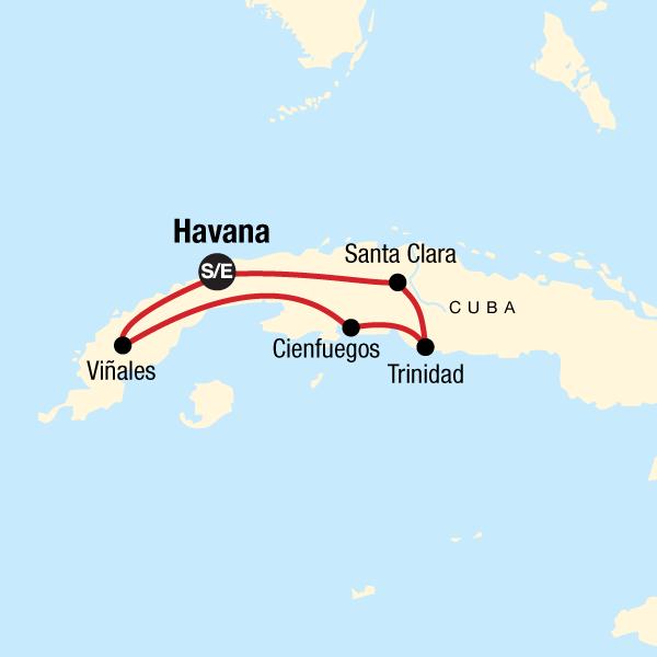 Kuba Karte Rundreise.Entdecke Kuba