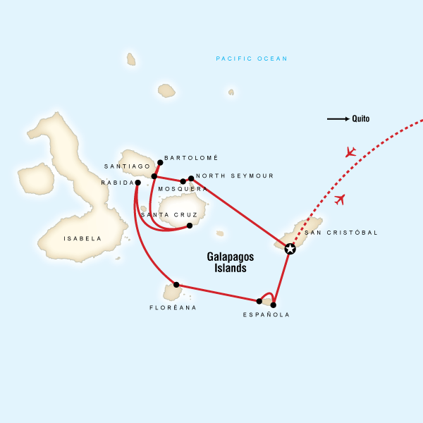 Galpagos  South  Central Islands aboard the Xavier III in