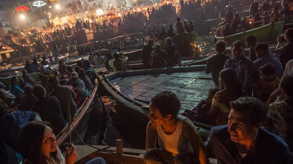 Find a moment of peace as you witness this holy Hindu ritual on the banks of the Ganges River.