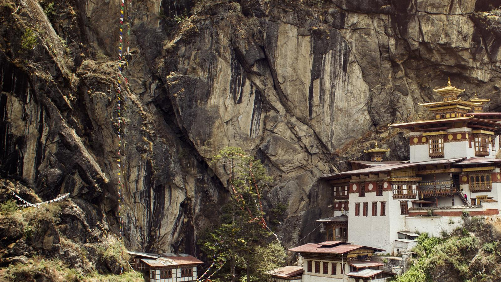 Tigers Nest Monastery in the mountains of Bhutan