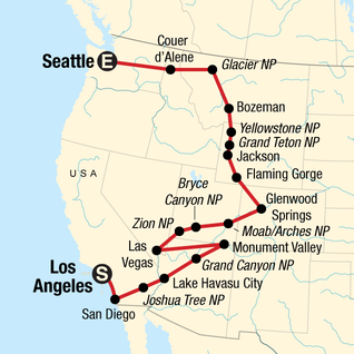 USA Road Trip: San Diego, Grand Canyon & Vegas in United ...