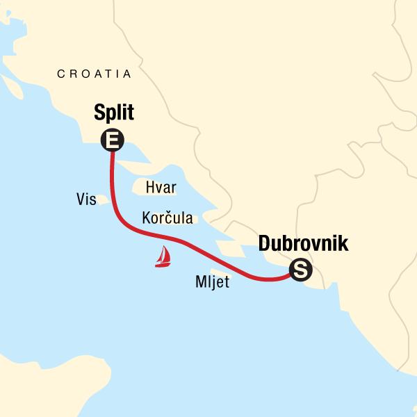 Segeln in Kroatien - Dubrovnik nach Split in Kroatien, Europa - G ...