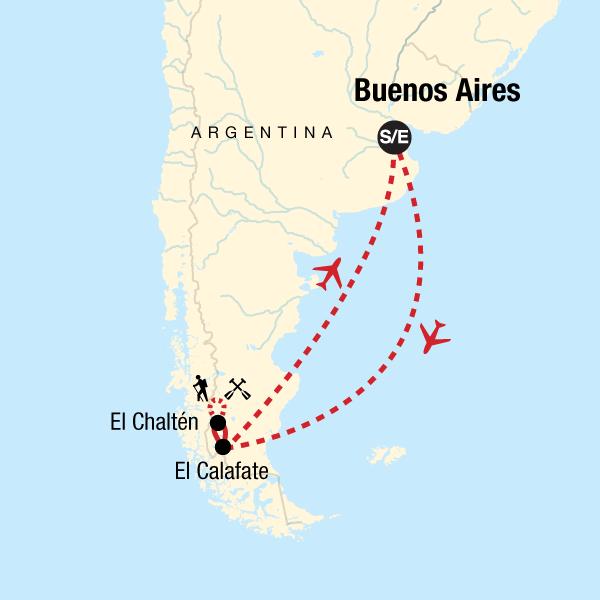 Patagonien Highlights Karte.Wandern In Patagonien