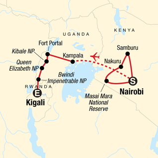 Map of East Africa In-Depth