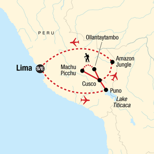 Map of Peru Panorama
