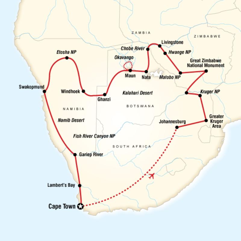 Africa Safari Tour Highlights of Southern Africa | Safari