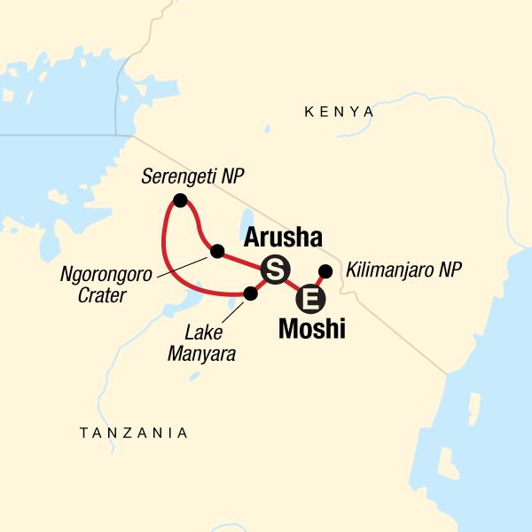 Kilimandscharo - Marangu-Route & Serengeti