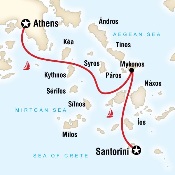 Sailing Greece Santorini to Athens in Greece Europe G Adventures