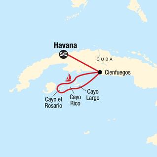 Map of Sailing Cuba