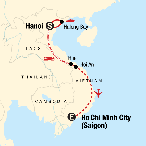 Map Of Asia During Vietnam War.Classic Vietnam Hanoi To Ho Chi Minh City In Vietnam Asia G