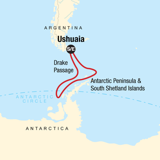 Map of Quest for the Antarctic Circle