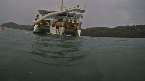 Join this brave traveller in Costa Rica as she takes a dive into the Pacific ocean.