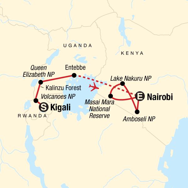 East Africa Gorilla & Safari Experience in Kenya, Africa   G