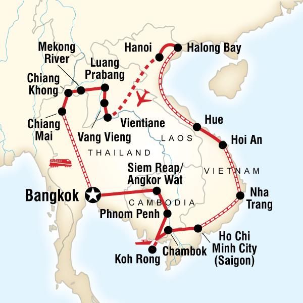 Cambodia And Vietnam Map