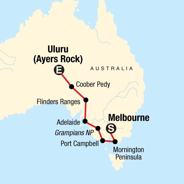 Australia Map Melbourne.Melbourne Outback
