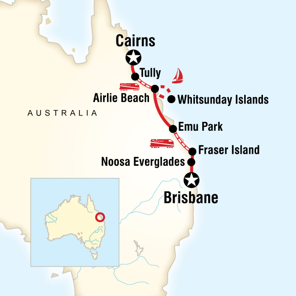 how to get from cairns to brisbane