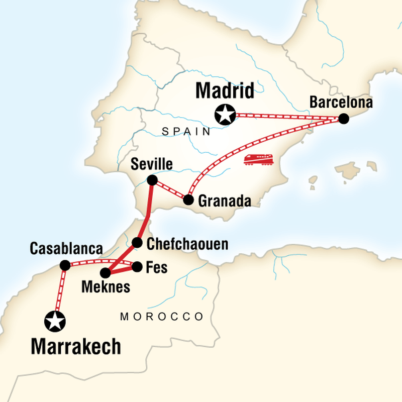 Where Should I Spend Week Vacation In Spain: Spain & Morocco By Rail In Spain, Europe