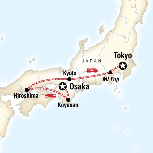 Japan Express Osaka To Tokyo In Japan Asia G Adventures - Japan map mount fuji