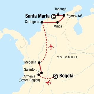 Map of Classic Colombia