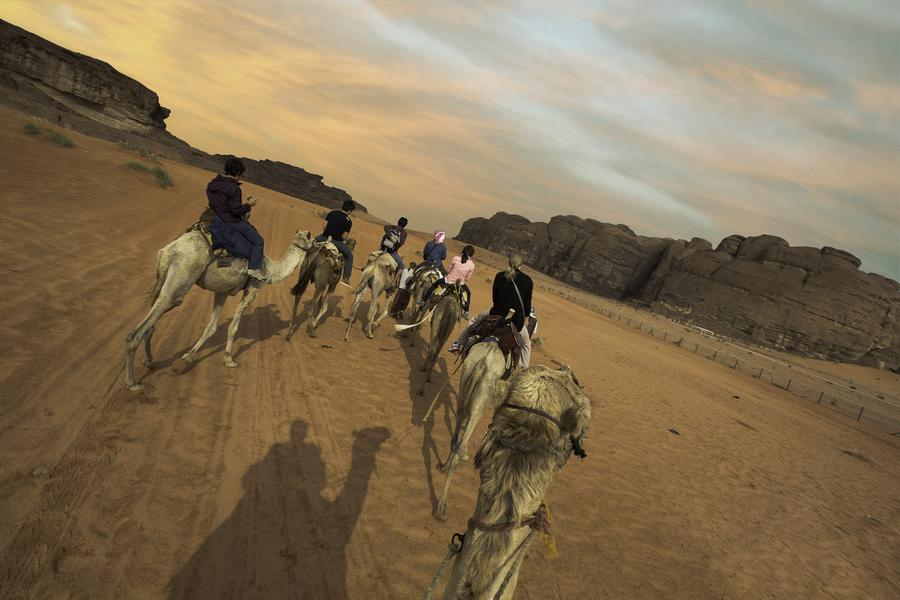 Connect with your inner Bedouin and sail your ship of the desert into the dunes