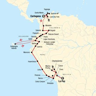 8415d38332cc Colombia through the Andes–Cartagena to La Paz in Colombia, South ...